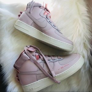 NWOB Nike Air Force 1 High Utility Particle Beige